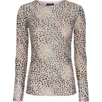 ThreeM Mesh Bluse Leopard