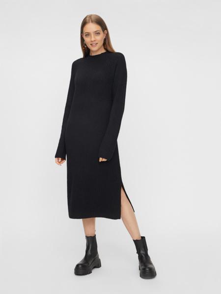 PCDisa Ls Mock Nick Knit Dress