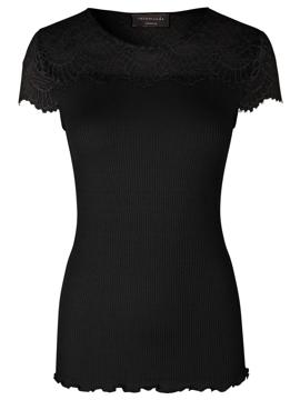 Rosemunde Silk T-Shirt Ss w/lace