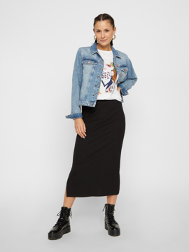 PCKylie Mw Midi Skirt Noos
