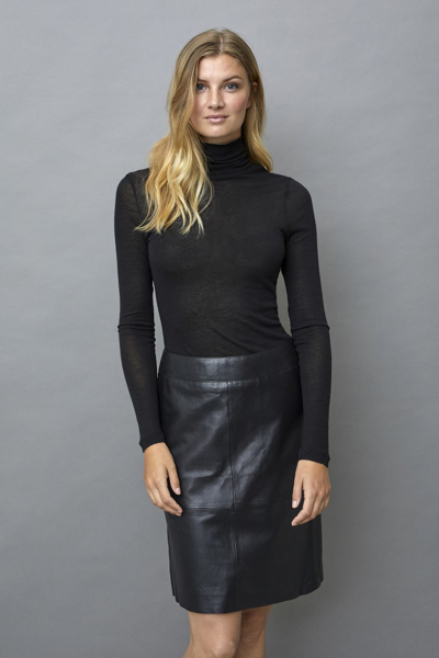 CULTURE LEATHER SKIRT